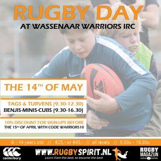 rugbydag wassenaar warriors 14th of may