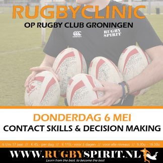 Rugbyclinic contact skills & decision making RC Groningen