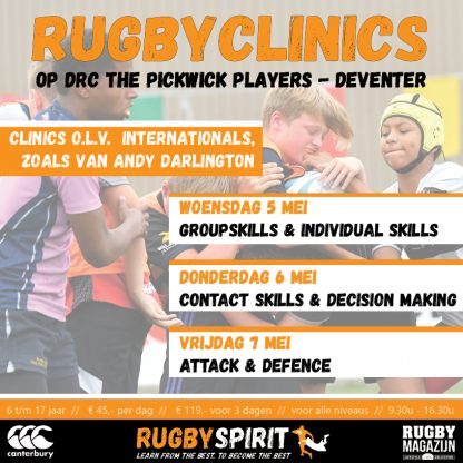 rugbyclinic 3dagen DRC The Pickwick Players